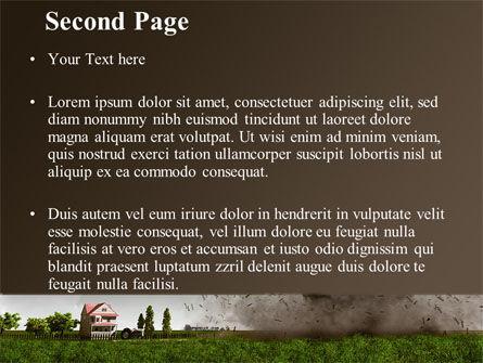 Tornado PowerPoint Template, Slide 2, 09251, Nature & Environment — PoweredTemplate.com