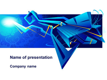 Blue Abstract Constructions PowerPoint Template