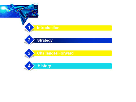 Blue Abstract Constructions PowerPoint Template Slide 3