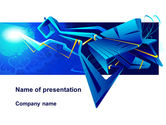 Abstract/Textures: Blue Abstract Constructions PowerPoint Template #09252