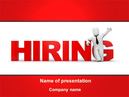 Hiring PowerPoint Template, 09255, Careers/Industry — PoweredTemplate.com
