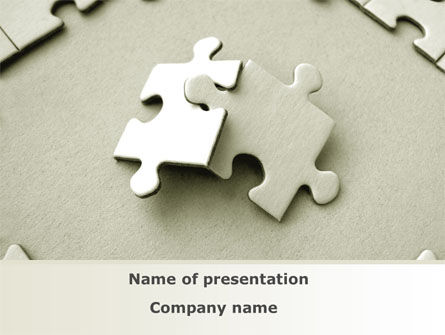 Puzzle Pieces PowerPoint Template, 09259, Business — PoweredTemplate.com
