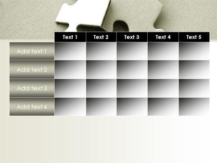 Puzzle Pieces PowerPoint Template Slide 15