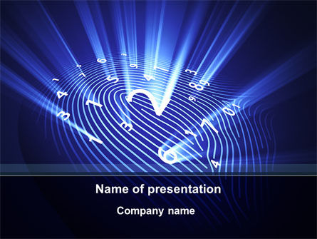Dactyloscopy PowerPoint Template, 09260, Technology and Science — PoweredTemplate.com