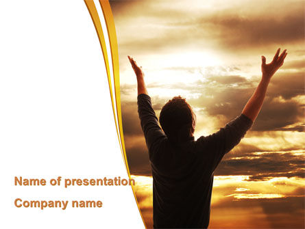 Religious/Spiritual: High Hopes PowerPoint Template #09261
