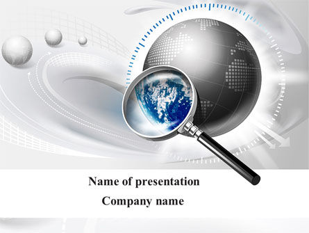 Global Search PowerPoint Template, 09265, Global — PoweredTemplate.com