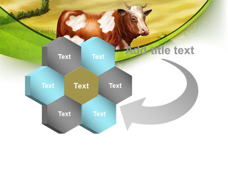 Cow On The Nature PowerPoint Template Slide 11