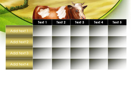 Cow On The Nature PowerPoint Template Slide 15