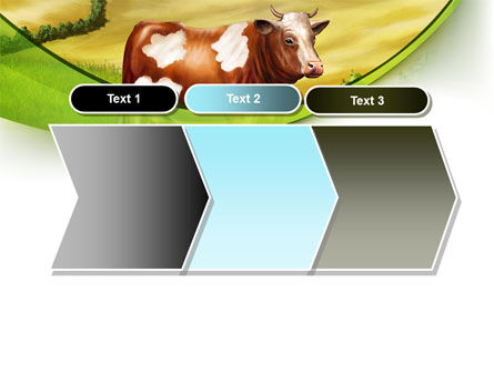 Cow On The Nature PowerPoint Template Slide 16