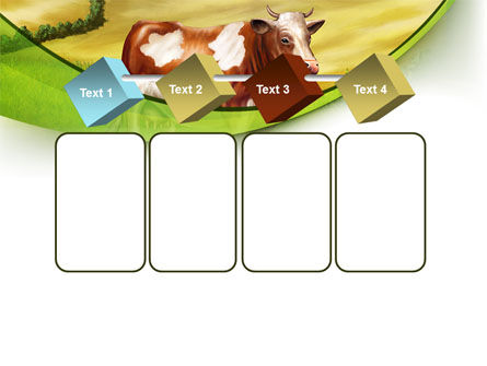 Cow On The Nature PowerPoint Template Slide 18
