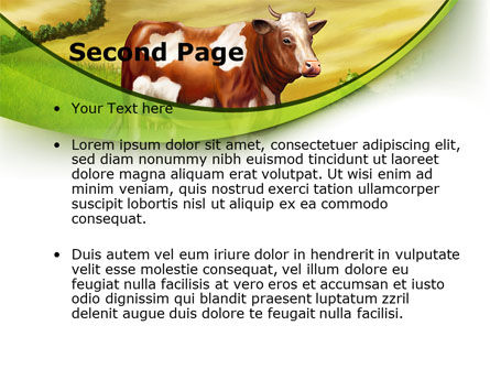 Cow On The Nature PowerPoint Template, Slide 2, 09266, Agriculture — PoweredTemplate.com