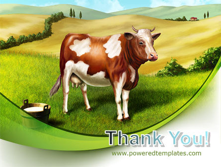 Cow On The Nature PowerPoint Template Slide 20