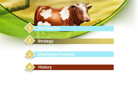 Cow On The Nature PowerPoint Template Slide 3