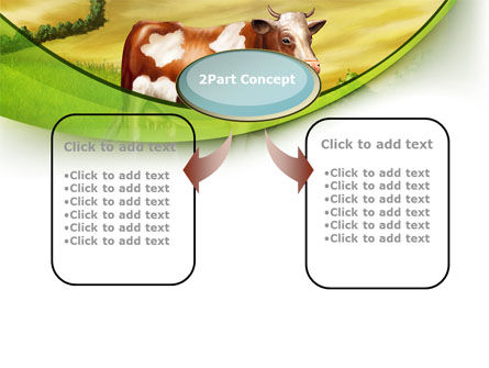 Cow On The Nature PowerPoint Template, Slide 4, 09266, Agriculture — PoweredTemplate.com