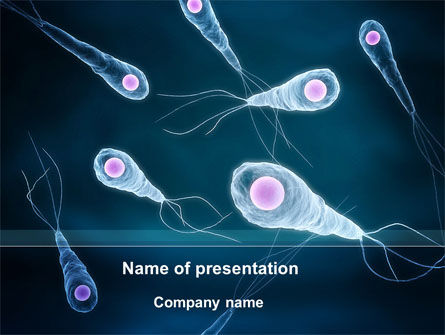 Flagella PowerPoint Template, 09267, Medical — PoweredTemplate.com