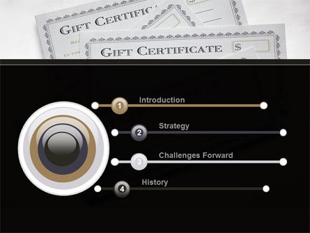 Gift Certificate PowerPoint Template, Slide 3, 09270, Financial/Accounting — PoweredTemplate.com