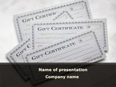 Financial/Accounting: Gift Certificate PowerPoint Template #09270