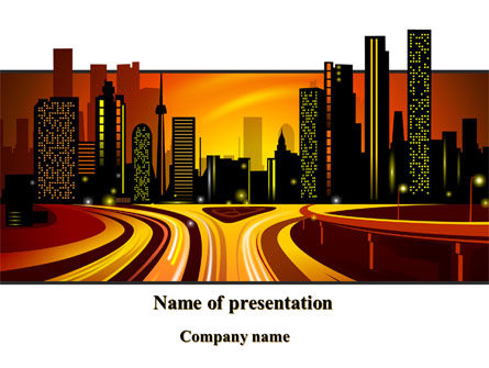 Construction: City Landscape PowerPoint Template #09272