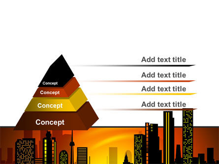 City Landscape PowerPoint Template Slide 12