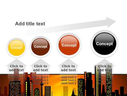 City Landscape PowerPoint Template Slide 13