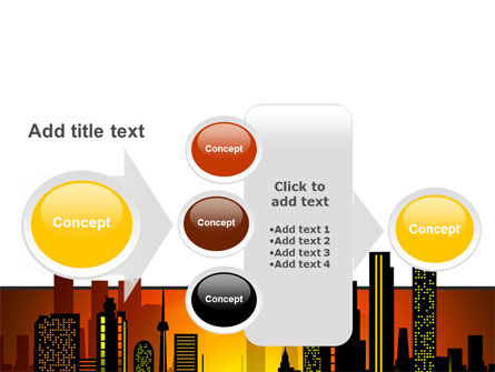 City Landscape PowerPoint Template Slide 17