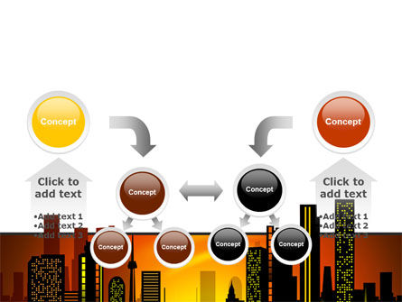 City Landscape PowerPoint Template Slide 19