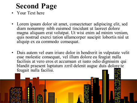 City Landscape PowerPoint Template Slide 2