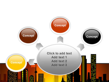 City Landscape PowerPoint Template Slide 7