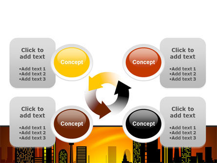 City Landscape PowerPoint Template Slide 9