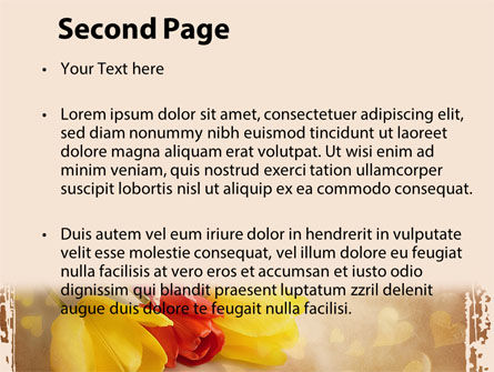 Tulip PowerPoint Template, Slide 2, 09274, Holiday/Special Occasion — PoweredTemplate.com