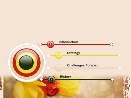 Tulip PowerPoint Template, Slide 3, 09274, Holiday/Special Occasion — PoweredTemplate.com