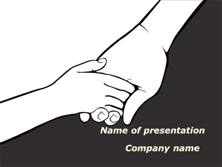 Consulting: Hand to Hand PowerPoint Template #09275