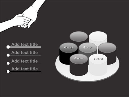Hand to Hand PowerPoint Template Slide 12