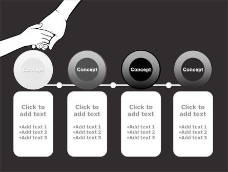 Hand to Hand PowerPoint Template Slide 5