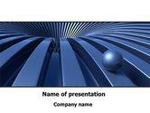 Consulting: Blauer trichter PowerPoint Vorlage #09276