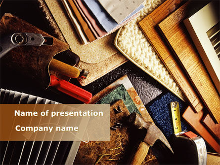 Construction: Binding Tools PowerPoint Template #09277