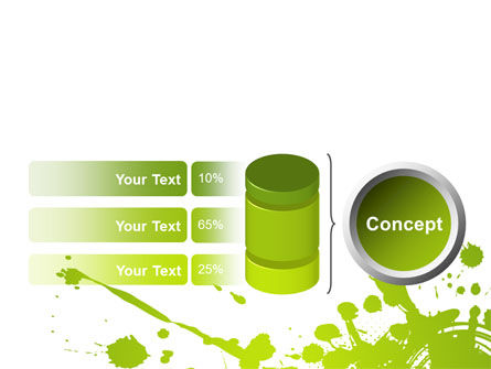 Green Splash PowerPoint Template Slide 11
