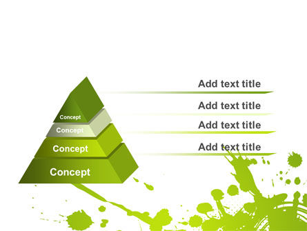 Green Splash PowerPoint Template Slide 12