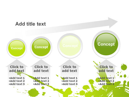 Green Splash PowerPoint Template Slide 13
