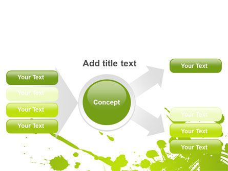 Green Splash PowerPoint Template Slide 14