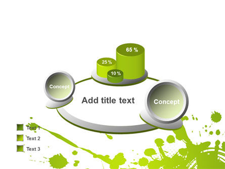 Green Splash PowerPoint Template Slide 16