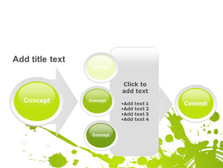 Green Splash PowerPoint Template Slide 17