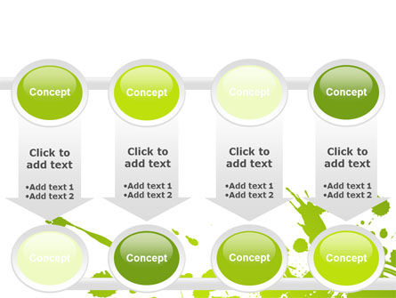 Green Splash PowerPoint Template Slide 18