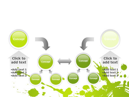 Green Splash PowerPoint Template Slide 19