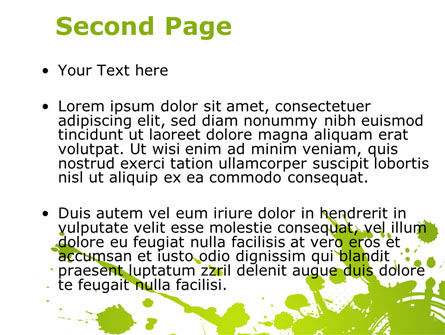 Green Splash PowerPoint Template Slide 2