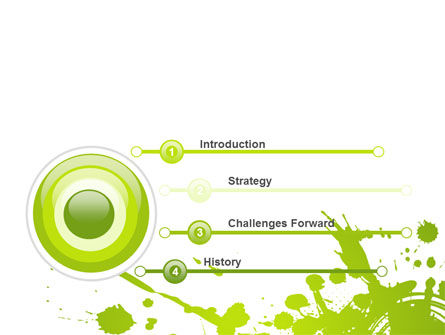 Green Splash PowerPoint Template Slide 3