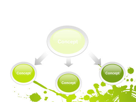Green Splash PowerPoint Template Slide 4