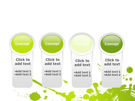 Green Splash PowerPoint Template Slide 5