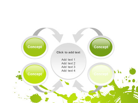 Green Splash PowerPoint Template Slide 6