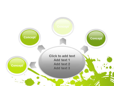 Green Splash PowerPoint Template Slide 7